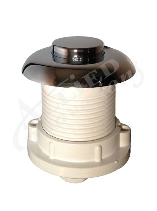 AIR BUTTON: HSA RAISED WITH NUT, CHROME HSA-217