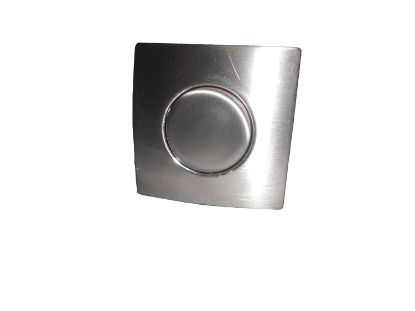 AIR BUTTON TRIM: #20 DESIGNER TOUCH, SATIN NICKEL, SQUARE