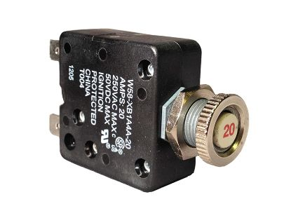 CIRCUIT BREAKER: 20AMP 110V PANEL MOUNT W58-XB1A4A-20