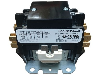 CONTACTOR: 220V DPST 20AMP HCC-2XU00AAC