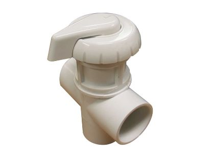 "DIVERTER VALVE: 3-WAY FLOW 1"" SLIP X 1"" SLIP X 1"" SLIP WHITE 11-4020WHT"