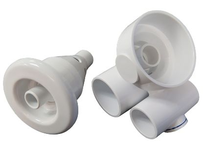"JET ASSEMBLY: 1"" SLIP AIR X 1-1/2"" SLIP WATER CONVERTA'SSAGE GUNITE 10-4553WHT"