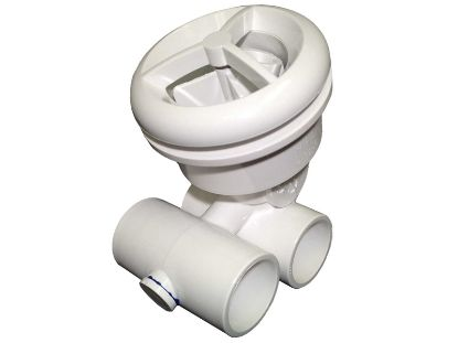"JET ASSEMBLY: 1"" SLIP AIR X 1"" SLIP WATER MICRO'SSAGE WHITE 16-5200WHT"