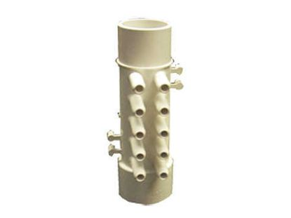 "MANIFOLD: 10-PORT FLO-THRU 1-1/2"" SPIGOT X 1-1/2"" SLIP X 3/8"" SLIP WITH 4 PLUGS 672-4660"