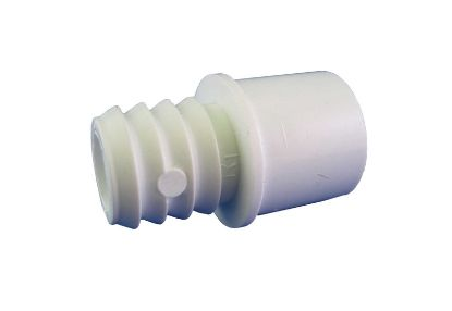 "PVC ADAPTER: 1/2"" SLIP OR 3/4"" SPIGOT X 3/4"" RIBBED BARB 425-1030"
