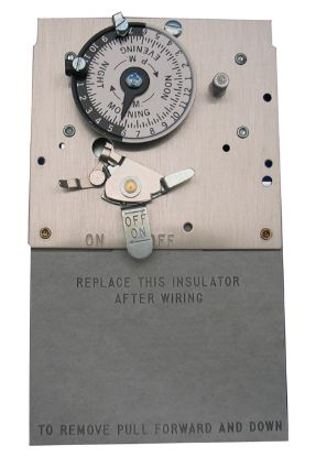 TIME CLOCK: 120/240V - 40A - 24-HOUR - DPST MECHANISM M521G