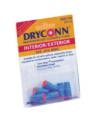 WIRE CONNECTOR: DRYCONN - AQUA / BLUE - WIRE #14-6 (3/BAG) 62310