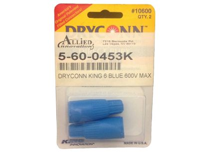 WIRE CONNECTOR: DRYCONN - KING 6 - BLUE WIRE #22-18 (2/BAG) 10600